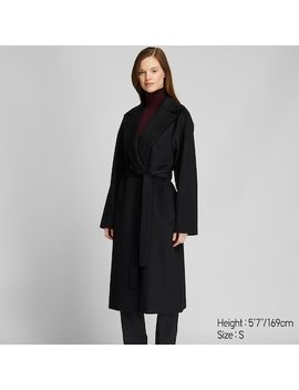 Women Wool Blend Wrap Coat (12) by Uniqlo