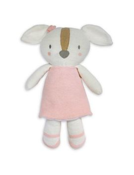 Living Textiles Ms. Rory Puppy Knitted Plush Toy In Pink by Living Textiles