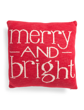 Made In India 20x20 Merry N Bright Pillow by Tj Maxx