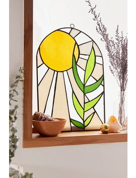 Sunrays Stained Glass Wall Hanging by Urban Outfitters