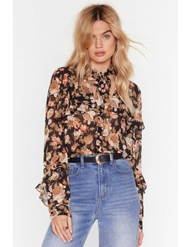 Floral Pussy Bow Blouse by Nasty Gal