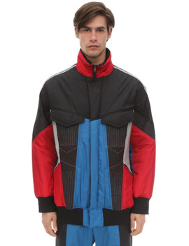 Color Block Primaloft Nylon Track Jacket by Y 3