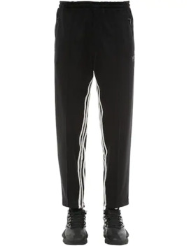 3 Stripe Cropped Techno Track Pants by Y 3