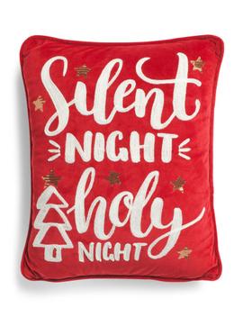 14x18 Silent Night Velvet Pillow by Tj Maxx