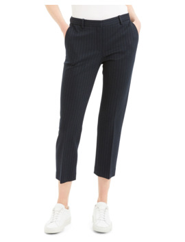 Striped Tailored Cropped Trousers by Theory