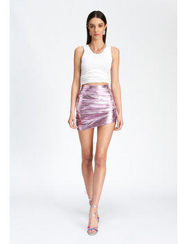 The Glow Up Mini Skirt – Pink by Lioness Fashion
