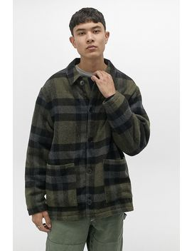 Uo Donkey Green Checked Chore Jacket by Urban Outfitters