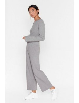 Premium Knitted Top & Culotte Lounge Set by Nasty Gal