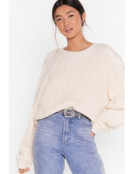 Cable Sleeve Chunky Jumper by Nasty Gal