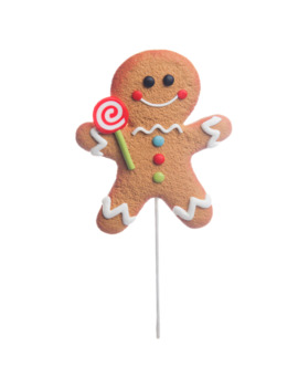 Gingerbread Man With Lollipop Pick By Ashland® by Ashland