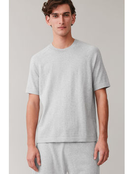 Cotton Cashmere Knitted T Shirt by Cos