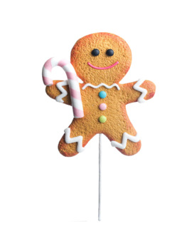 Gingerbread Man With Candy Cane Pick By Ashland® by Ashland