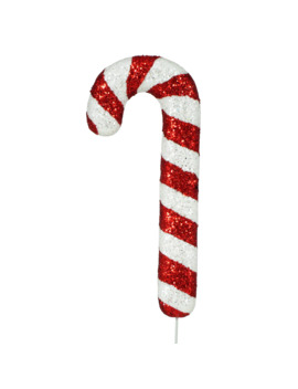 Red & White Glitter Candy Cane Pick By Ashland® by Ashland