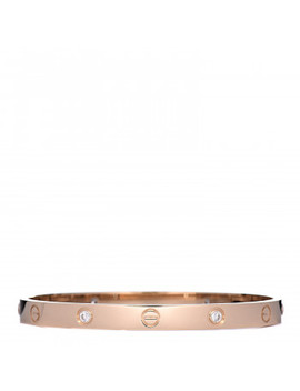 Cartier 18 K Yellow Gold 4 Diamond Love Bracelet 19 by Cartier