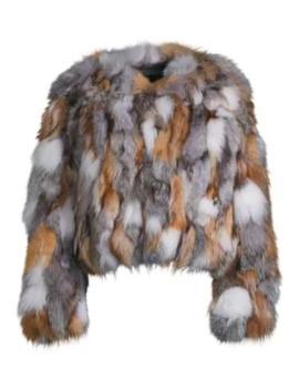Savage Love Multicolor Fox Fur Chubby Coat by Jocelyn