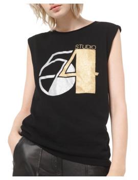 Cashmere Glitter Print T Shirt by Michael Kors