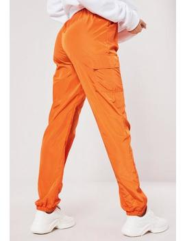 Tall Orange Pocket Detail Joggers by Missguided