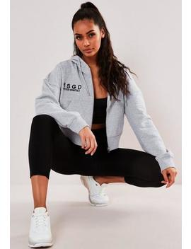 Active Grey Msgd Slogan Hooded Sweatshirt by Missguided