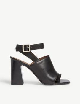 Nieve Leather Block Heel Sandals by Topshop