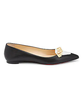 Miss Constella Studded Leather Ballet Flats by Christian Louboutin
