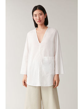 Rounded Cotton Shirt by Cos