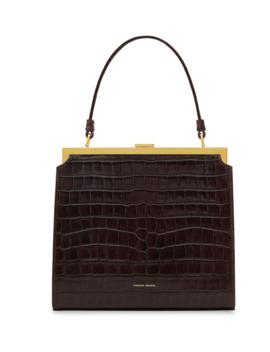 Elegant Crocodile Embossed Top Handle Bag by Mansur Gavriel