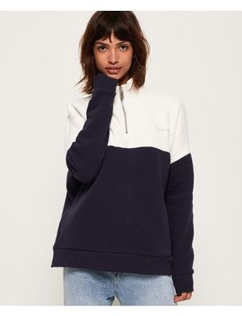 Ana Half Zip Sweatshirt by Superdry