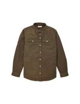 Boys Twill Shirt With Badges   Multi by V By Very