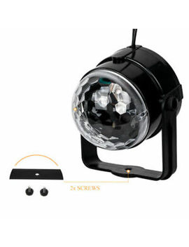 Disco Dj Stage Light Club Party Crystal Ball Rgb Rotating Led Lighting Uk New Sm by Ebay Seller