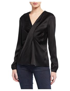 Muriel Draped Long Sleeve Blouse by Diane Von Furstenberg