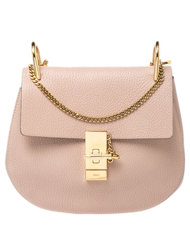 Chloe Nude Leather Medium Drew Shoulder Bag by The Luxury Closet