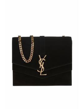 'sunset Monogram' Velvet Shoulder Bag by Saint Laurent