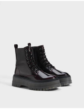 Platform Ankle Boots With Track Sole by Bershka