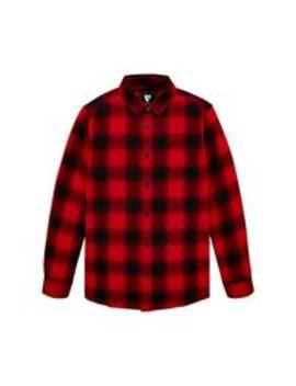 Boys Long Sleeve Check Shirt   Red by V By Very