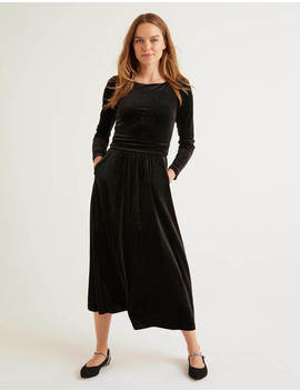 Lois Velvet Dress   Black by Boden