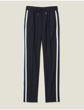 Smart Trousers With Braid Trim On Sides by Sandro Paris