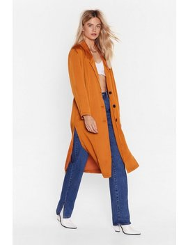 Actions Sleek Louder Than Words Duster Jacket by Nasty Gal
