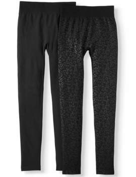 Women's Embossed Legging   2 Pack by Time And Tru