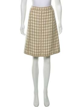 Silk Knee Length Skirt by Chanel