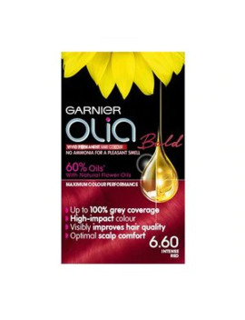 Garnier Olia Bold 6.60 Intense Red Permanent Hair Dye by Superdrug