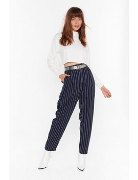 As Line Goes By Tapered Pinstripe Trousers by Nasty Gal