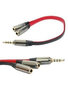 2 Way 3.5 Mm Jack Plug Headphone Splitter Audio Stereo Extension Earphone Y Cable by Ebay Seller
