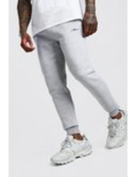 Man Signature Drop Crotch Jogger by Boohoo Man