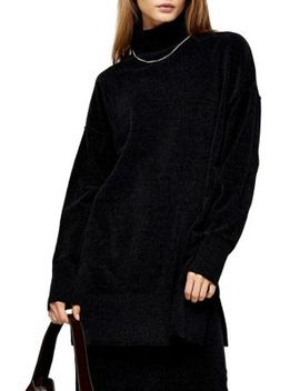 Knitted Chenille Oversized Longline Sweater by Topshop