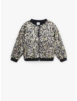 Bomber Jacket With Contrast Sequins by Zara