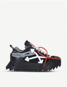 Odsy 1000 Leather And Mesh Trainers by Off White C/O Virgil Abloh