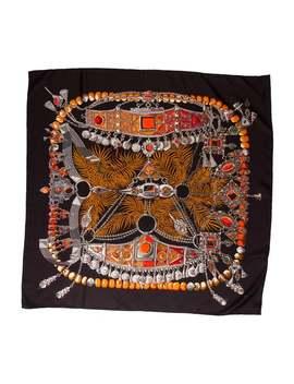 Terres Precieuses Silk Scarf by Hermès