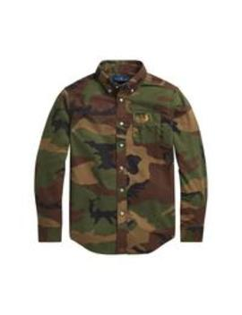 Boys Long Sleeve Camo Print Shirt   Multi by Ralph Lauren