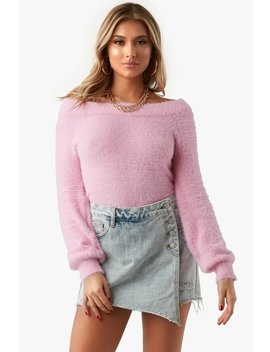 Call Me Later Fuzzy Sweater by Honeybum