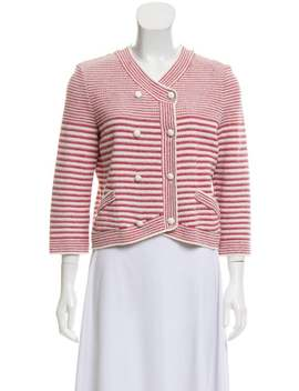 Striped Double Breasted Cardigan by Chanel